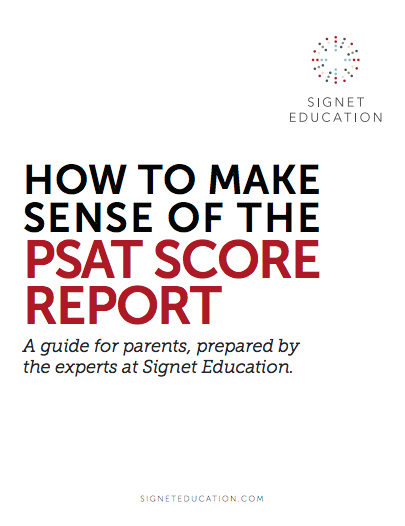 How To Make Sense of the PSAT Score Report
