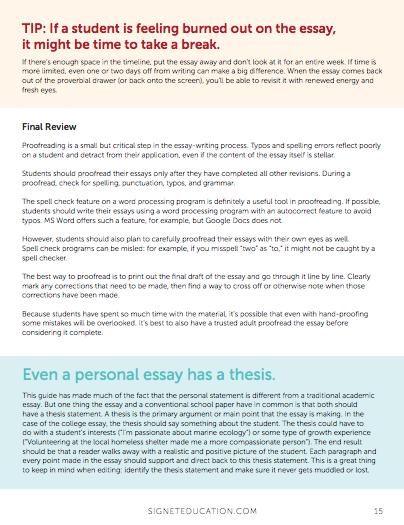 Misspell in college essay additional information