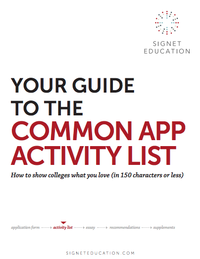 Your Guide to the Common App Activity List