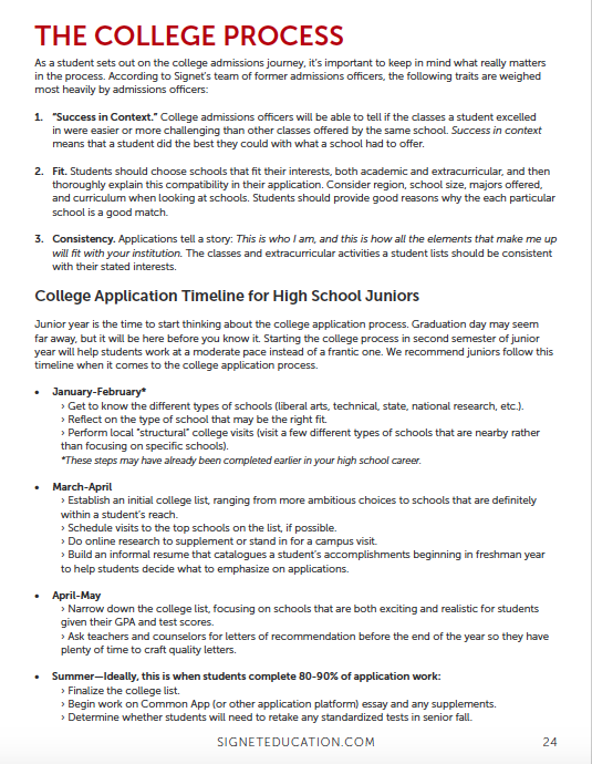 Signet's Guide to High School Junior Year | Signet Education